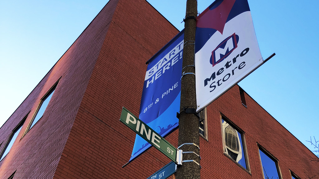 MetroStore Banner | Start Here | 8th & PINE